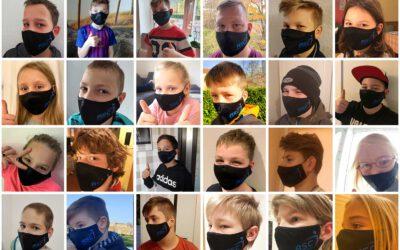 Mund-Nasen-Schutz mit Vereinslogo